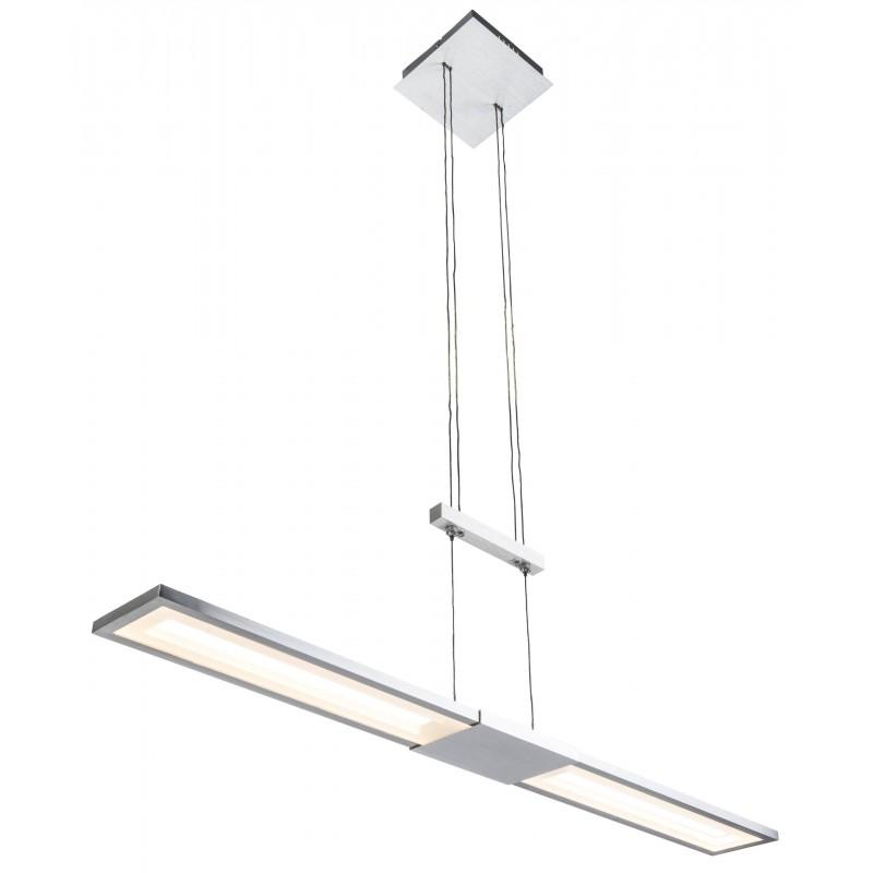 Nino Leuchten LED Pendelleuchte Yesno, aluminium, B: 90 cm, H: 120 cm