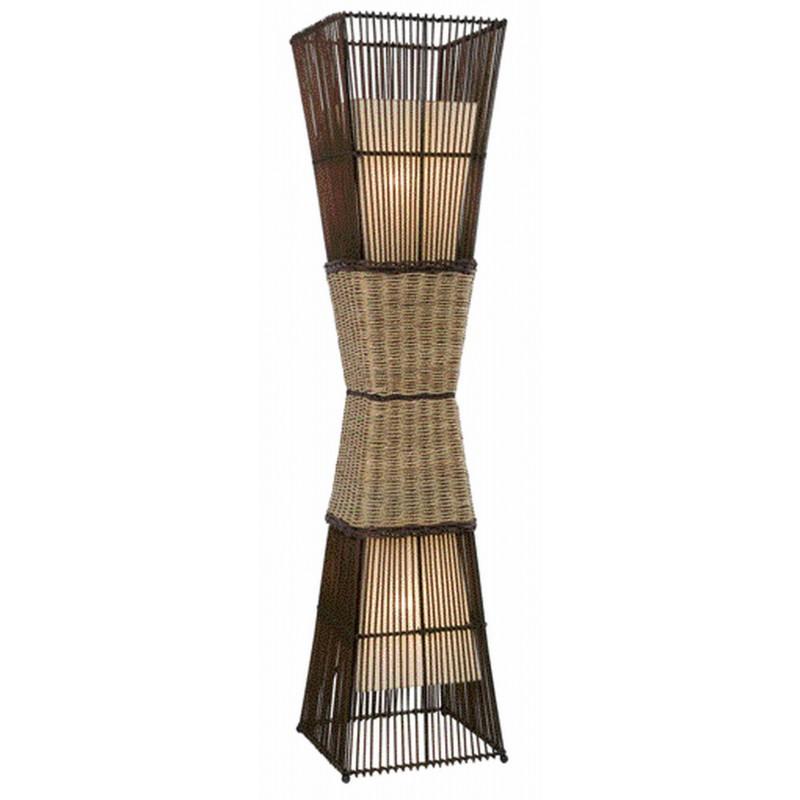 Nino Leuchten Stehleuchte 2-flg. Bamboo, braun, B: 30 cm, H: 130 cm, T: 30 cm