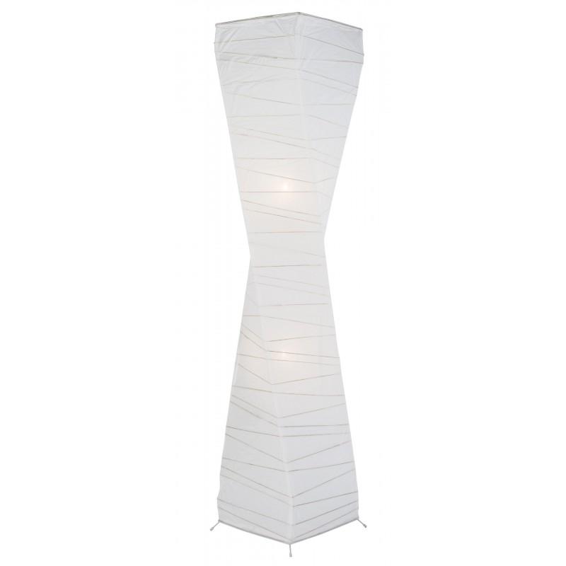 Nino Leuchten Papier-Stehleuchte 2flg. Limbo, chrom, B: 25 cm, H: 125 cm, T: 25 cm