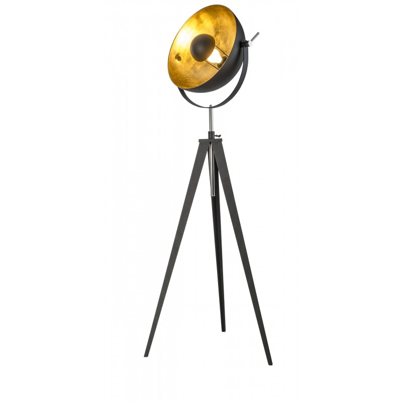 Nino Leuchten Stehleuchte 1flg. Bowy, schwarz, H: 166 cm, D: 40 cm
