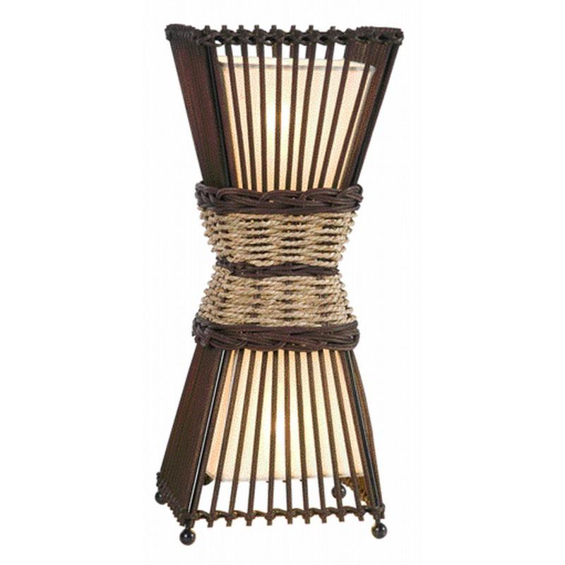 Nino Leuchten Tischleuchte 2-flg. Bamboo, braun, B: 15,5 cm, H: 38 cm, T: 15,5 cm