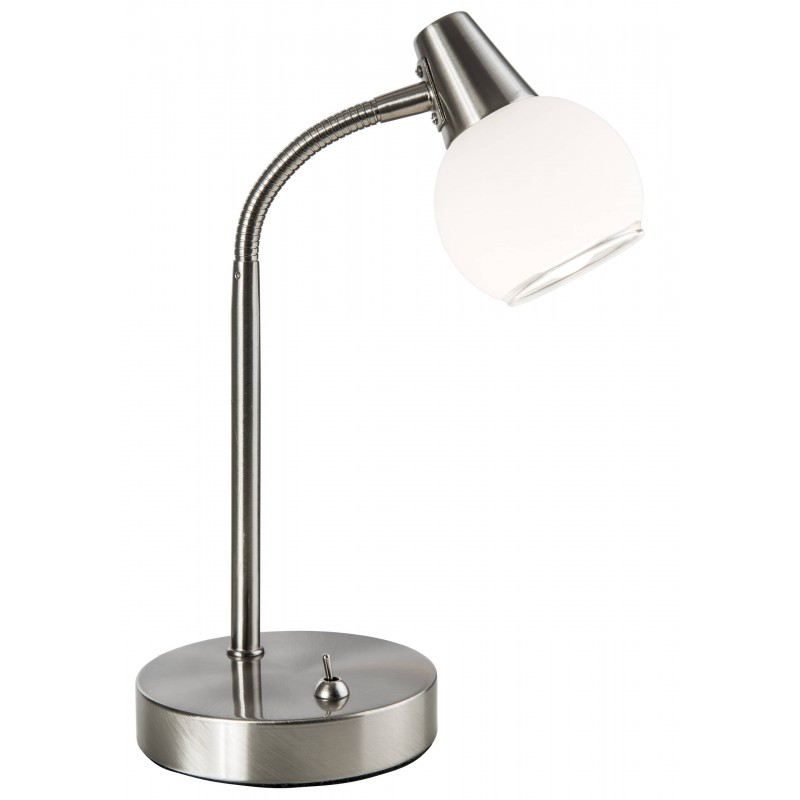 Nino Leuchten LED Stehleuchte 1flg Dasha, nickel, H: 35 cm