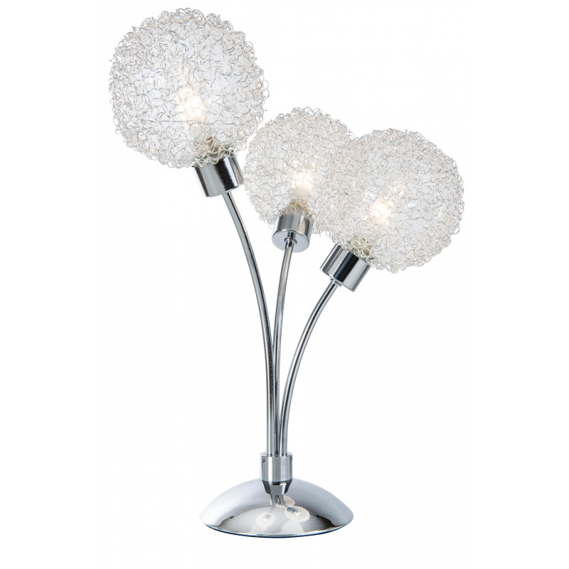 Nino Leuchten LED-Tischleuchte 3-flg. Ryder, chrom, H: 35 cm
