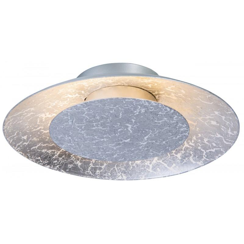 Nino Leuchten LED Deckenleuchte Dalia, silber, H: 5 cm, D: 22 cm