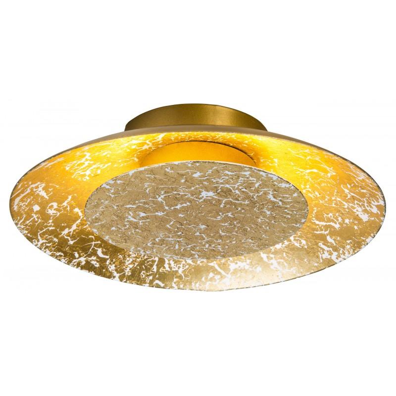 Nino Leuchten LED Deckenleuchte Dalia, gold, H: 5 cm, D: 22 cm