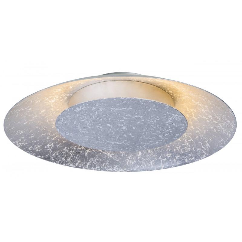 Nino Leuchten LED Deckenleuchte Dalia, silber, H: 7 cm, D: 38 cm