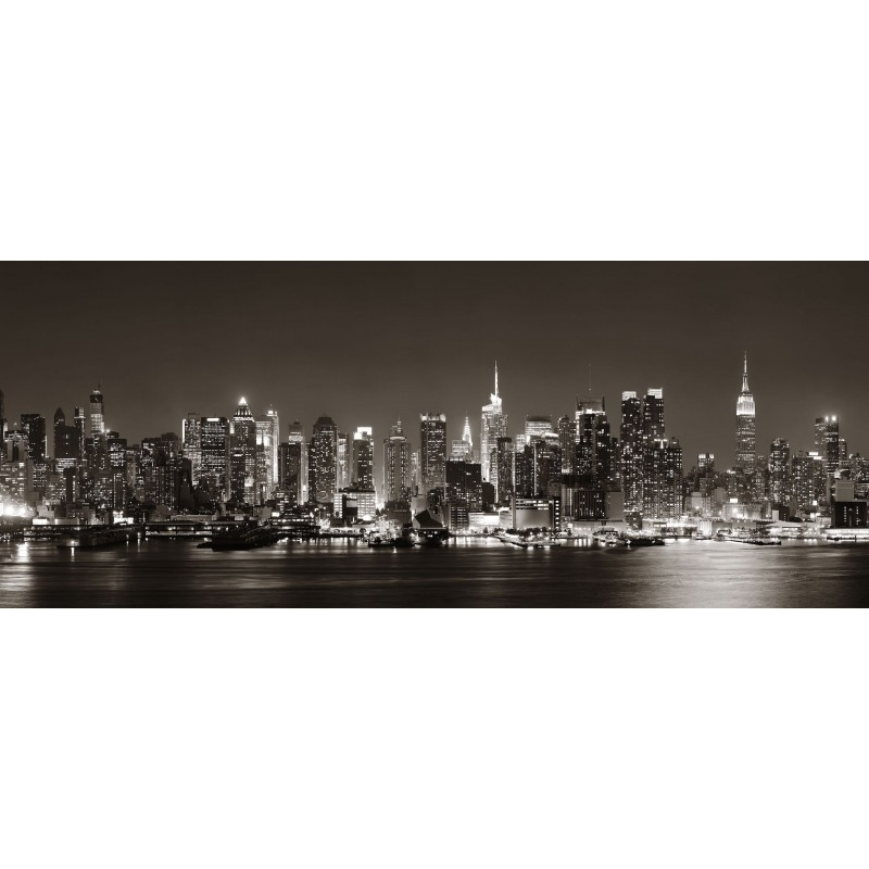 Deko-Panel: New York at Night , 125 x 50 cm
