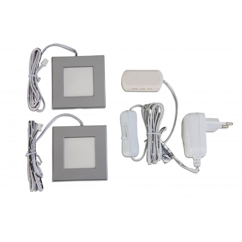 Nino Leuchten LED-Unterbauleuchte Cabinet, nickel, B: 7,3 cm, T: 7,3 cm