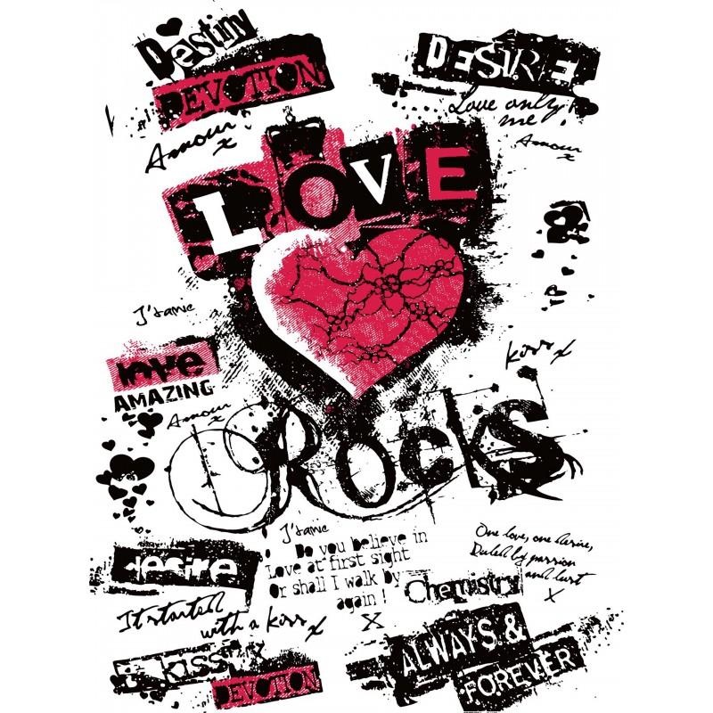 Leinwandbild: Love Rocks, 40 x 30 cm