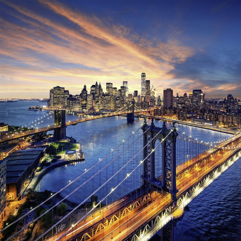 Leinwandbild: New York in the Morning, 35 x 35 cm