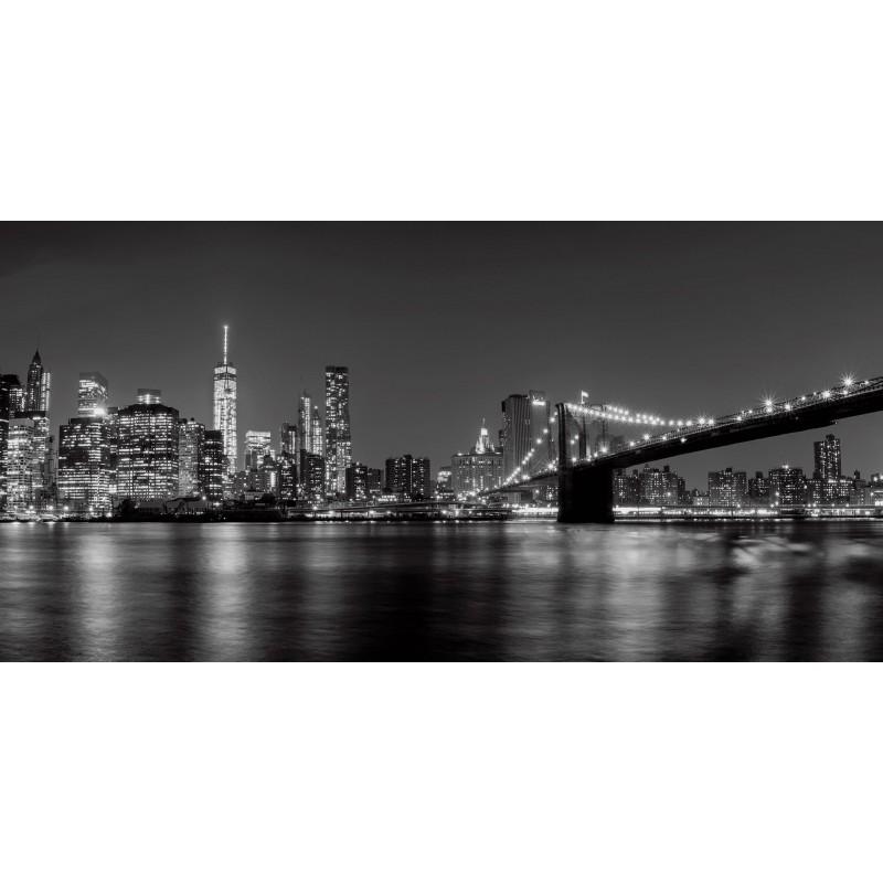 Leinwandbild: New York at Night, 100 x 50 cm