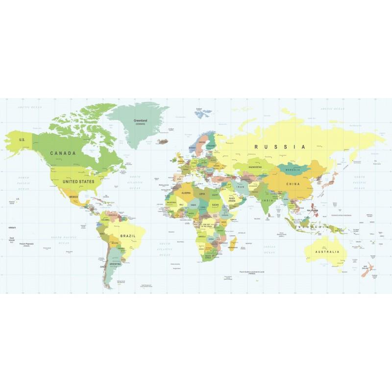 Leinwandbild: The World, 100 x 50 cm