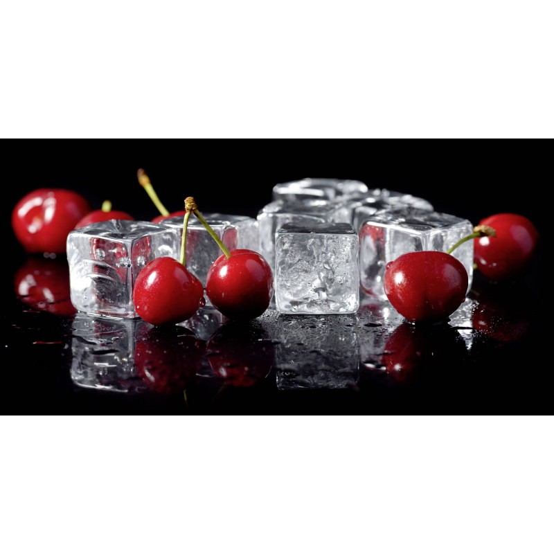 Leinwandbild: Cherries on ice, 100 x 50 cm