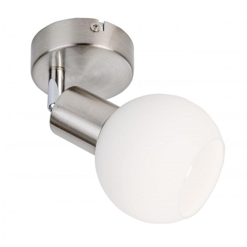 Nino Leuchten LED Spot 1-flg. Loxy, nickel, B: 10 cm