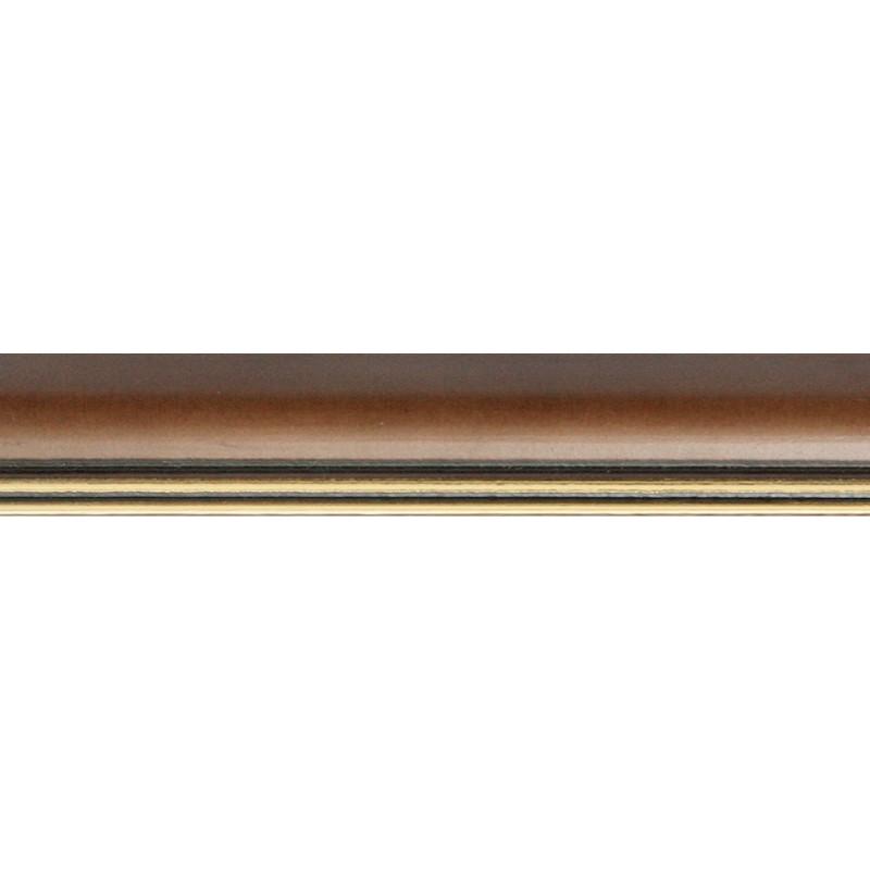 Nielsen Holz Wechselrahmen Ascot, 30 x 40 cm, Dunkelbraun / Gold