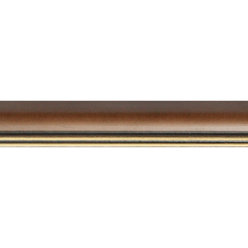 Nielsen Holz Wechselrahmen Ascot, 18 x 24 cm, Dunkelbraun / Gold