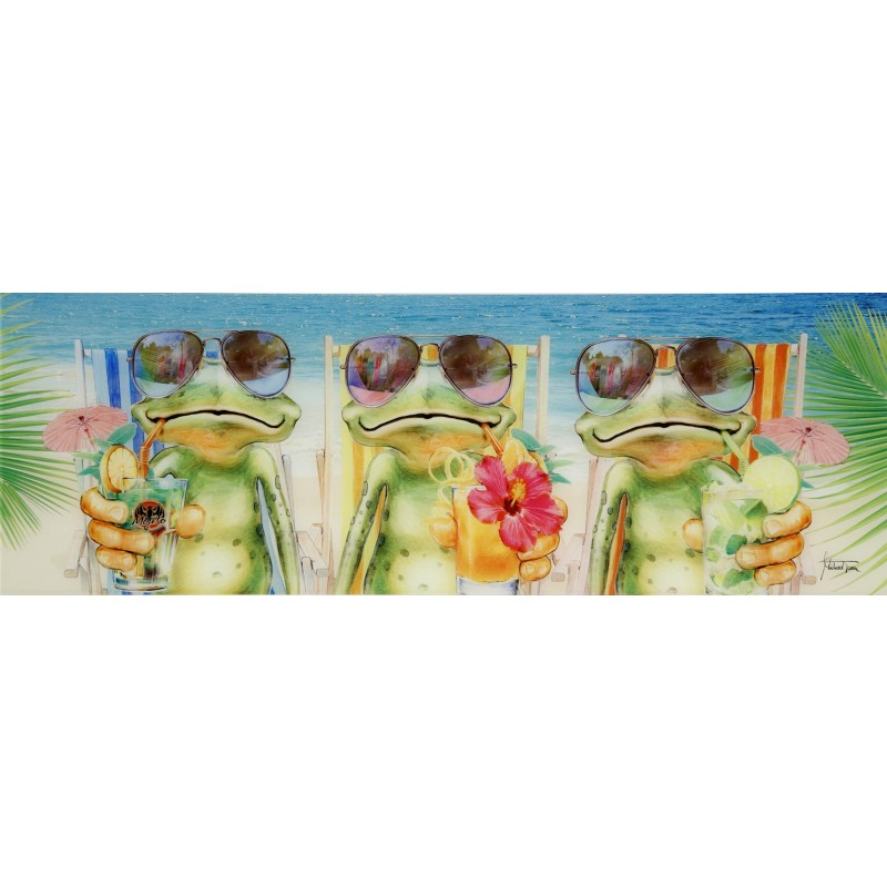 Glasbild CHILLING FROGS