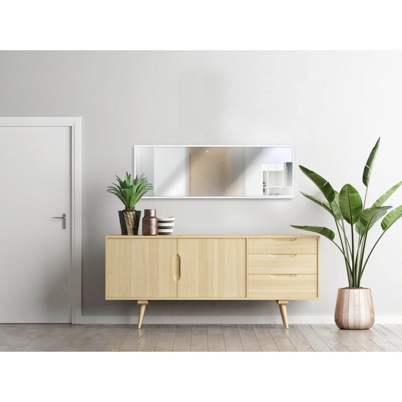 Your Homestyle Wandspiegel 50 x 150 cm mit Holzrahmen Weiß Moodbild Eingangsbereich