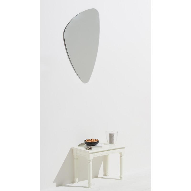 Homestyle Spiegel Mirror organische Form 89cm x 55cm, hochwertig verarbeiteter Kristallspiegel/Wandspiegel, inkl. Befestigungsmaterial
