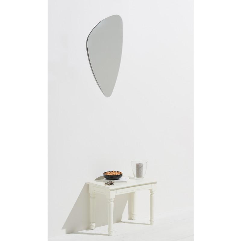 Homestyle Spiegel Mirror 40 x 75 cm hochwertig verarbeiteter Kristallspiegel/Wandspiegel, Rahmenlos, inkl. Klebebleche