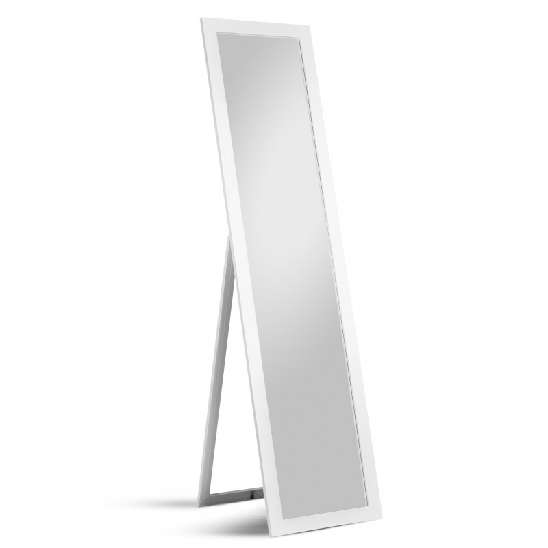 Homestyle Moderner Standspiegel 40 x 160 cm Weiß
