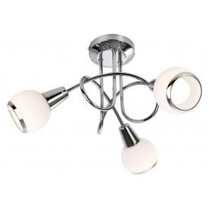 Nino Leuchten LED Deckenleuchte 3-flg. Loris, chrom, D: 40 cm
