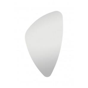 Homestyle Spiegel organische Form 89cm x 55cm, hochwertig verarbeiteter Kristallspiegel/Wandspiegel, inkl. Befestigungsmaterial