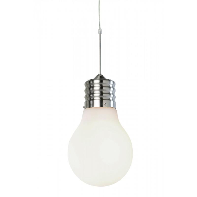 Nino Leuchten Pendelleuchte 1-flg. Luce, nickel, H: 150 cm, T: 24,5 cmD: 25 cm