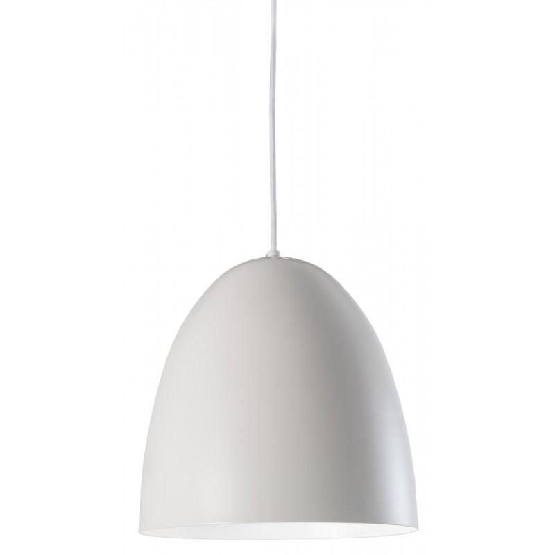 Nino Leuchten Pendelleuchte 1-flg. Viola, weiss, H: 150 cm, D: 27 cm