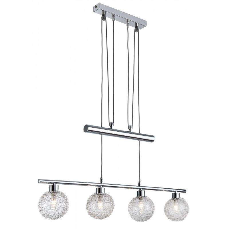 Nino Leuchten LED Jojo-Balken 4-flg. Ryder, chrom, B: 75 cm, H: 100 cm
