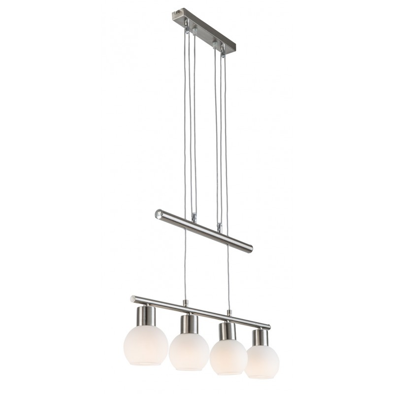 Nino Leuchten LED Jojo Balken  4-flg. Loxy, nickel, B: 60 cm, H: 100 cm