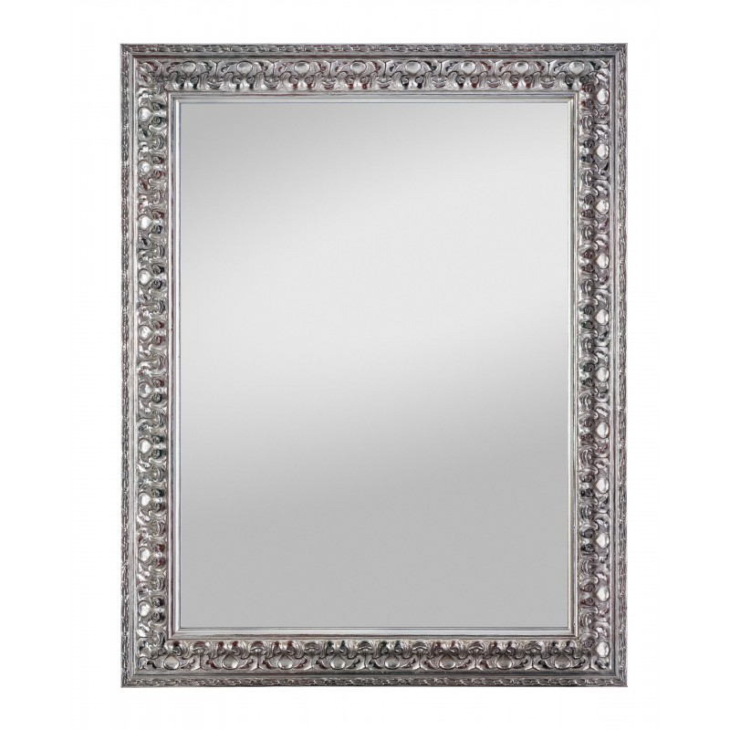 Rahmenspiegel Elena, 55 x 70 cm, altsilber