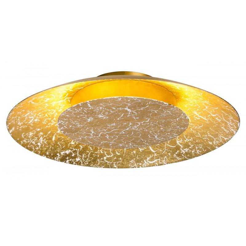 Nino Leuchten LED Deckenleuchte Dalia, gold, H: 7 cm, D: 38 cm
