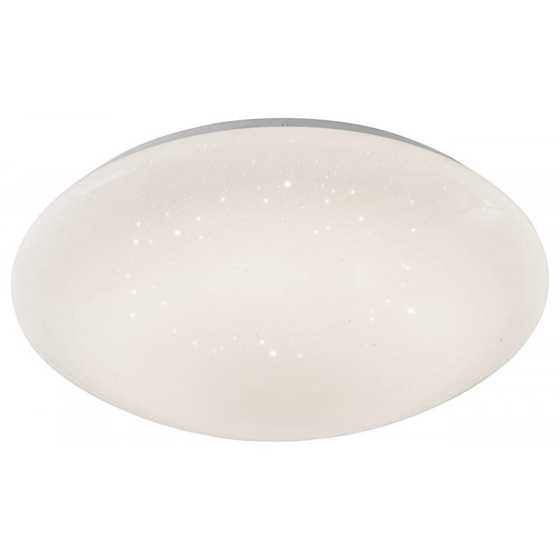 Nino Leuchten LED Deckenleuchte Dots, weiss, D: 35 cm