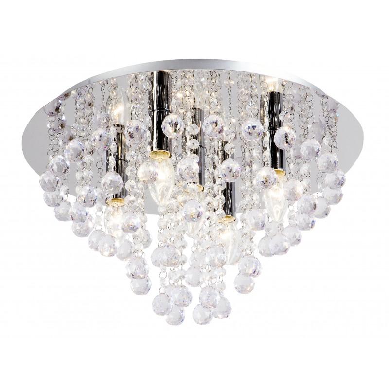 Nino Leuchten Deckenleuchte London, chrom, H: 22 cm, D: 46 cm