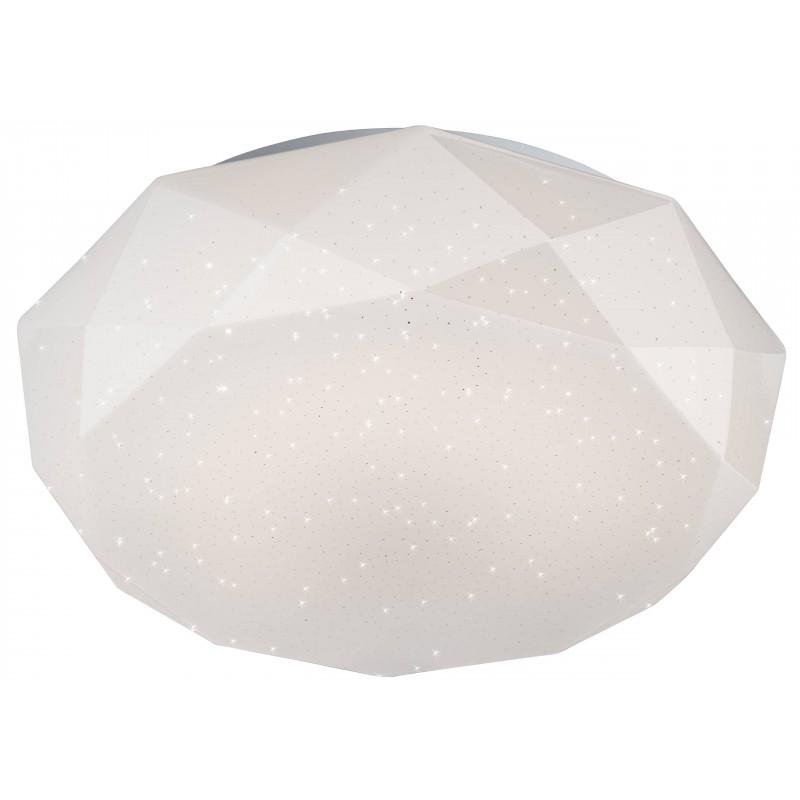 Nino Leuchten LED Deckenleuhte Diamond, weiss, H: 10 cm, D: 41 cm