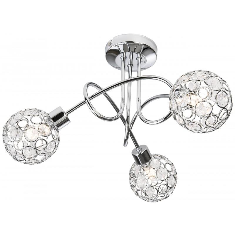 Nino Leuchten LED Deckenleuchte 3flg Largo, chrom, H: 27 cm, D: 40 cm