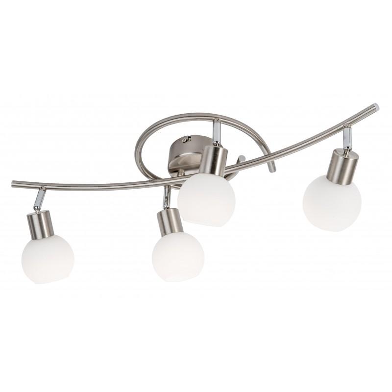 Nino Leuchten LED Deckenleuchte 4-flg. Loxy, nickel, B: 65 cm, T: 23 cm