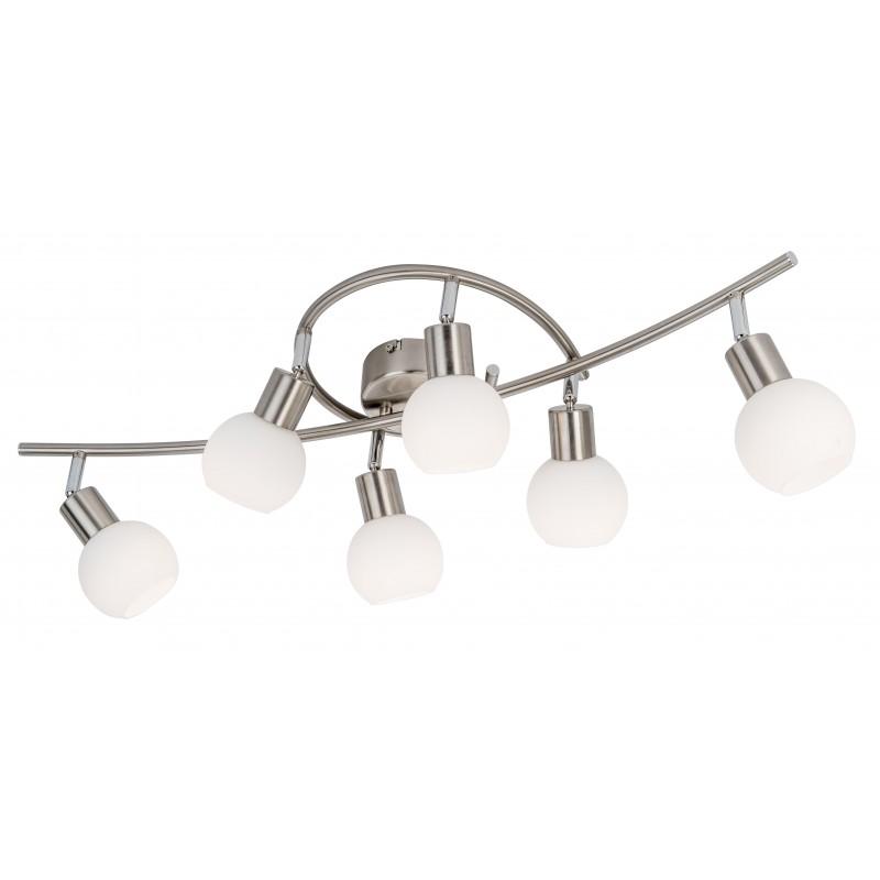 Nino Leuchten LED Deckenleuchte 6-flg. Loxy, nickel, B: 75 cm, T: 25 cm