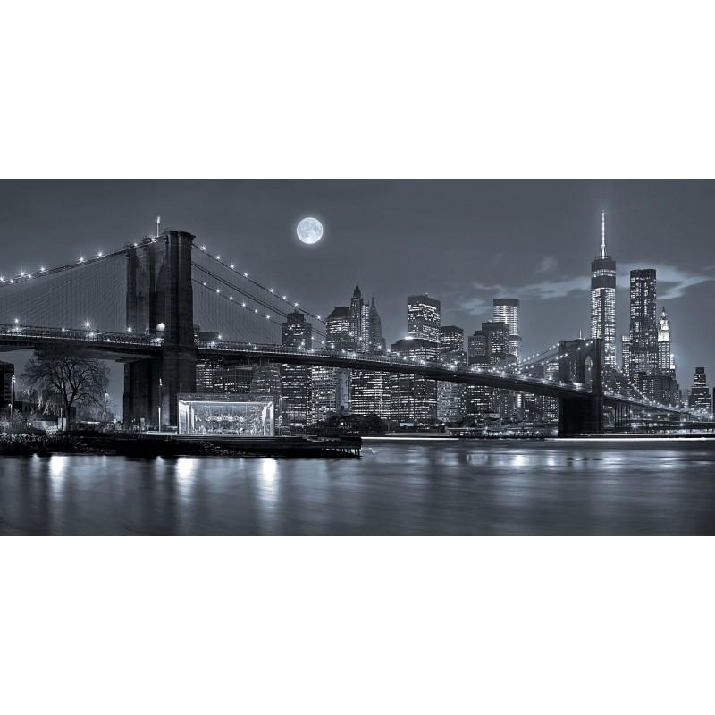 Deko-Panel: New York & Brooklyn, 100 x 50 cm