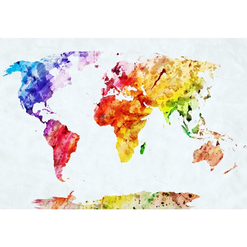 Deko-Panel: Colourful World, 98 x 68 cm