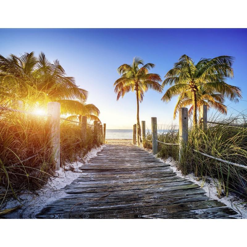 Leinwandbild: Sunset Beach, 40 x 30 cm