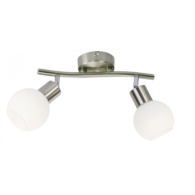 Nino Leuchten LED Balken 2-flg. Loxy, nickel, B: 25 cm