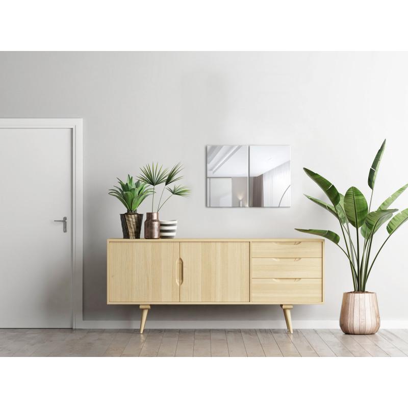 Your-Homestyle Facettenspiegel rahmenlos 40x60cm Rechteckig eingangsbereich