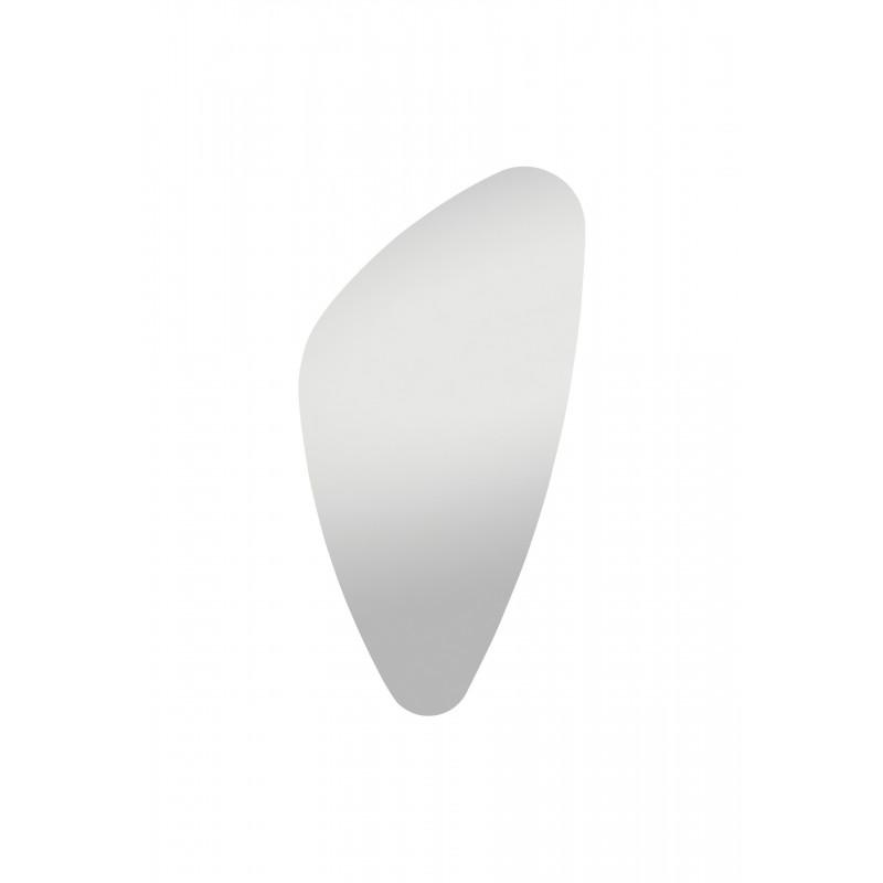 your-homestyle Spiegel organische Form 75cm x 40cm, hochwertig verarbeiteter Kristallspiegel/Wandspiegel, inkl. Befestigungsmaterial